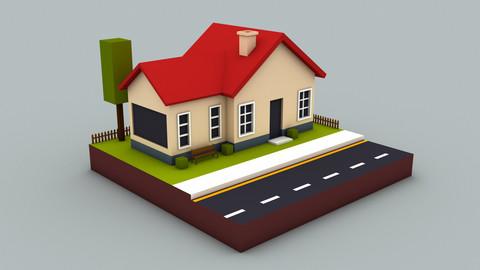 Low poly mini House