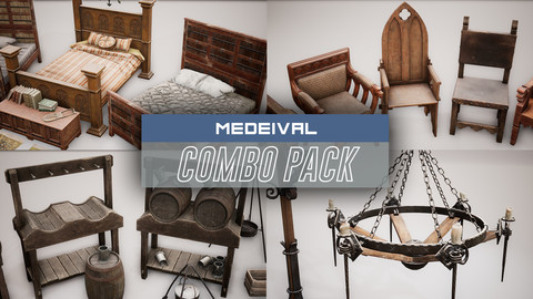 Medieval Props COMBO PACK (UE4)