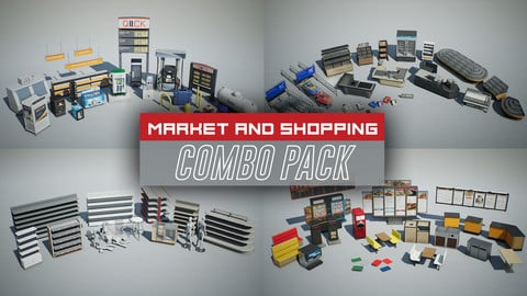 Market and Shopping Props COMBO PACK (UE4)