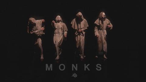 Monk 3D models for Concept Art