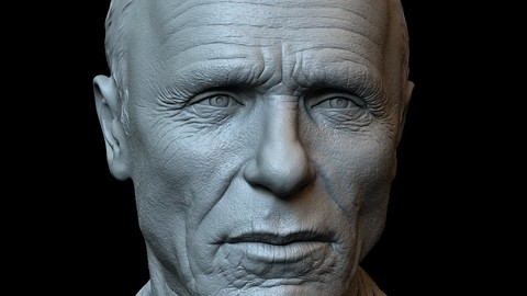 Ed Harris - 3d printable bust