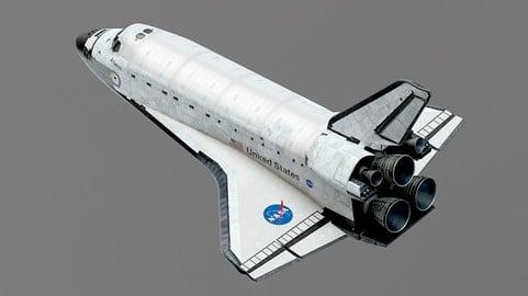 SPACE SHUTTLE Atlantis Exterior Only 3D model