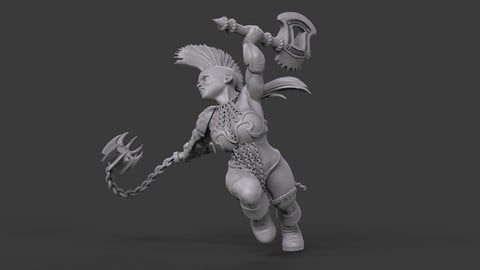 Female Dwarf Warrior_02
