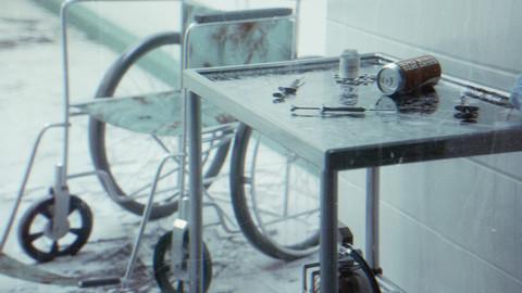 Hospital project file Cinema4D Octane render