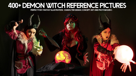400+ Demon Witch Reference Pictures for Artists