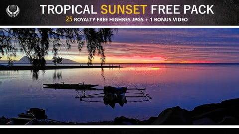 TROPICAL SUNSET FREE PACK