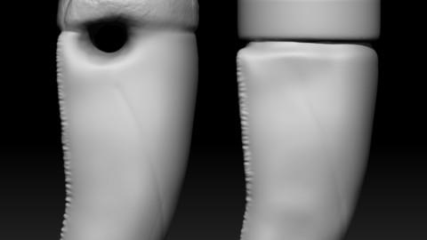 T - Rex teeth pendant necklace ( 1 variaton free) - 3D print
