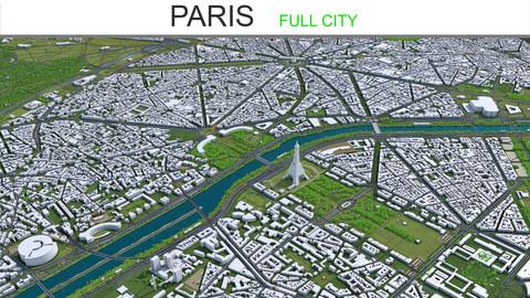 Paris City 3D Model