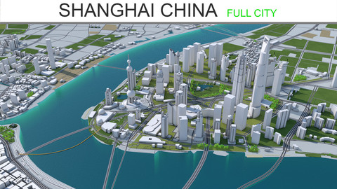 Shanghai City China 3D Model