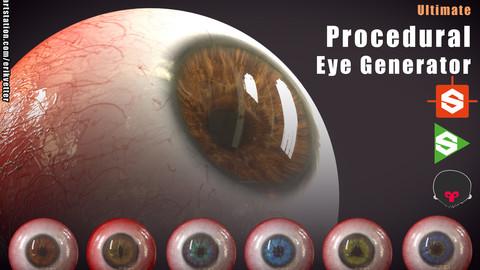 Ultimate Procedural Eye Generator Substance Designer