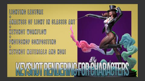 Keyshot Rendering for Characters