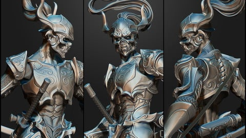High Poly of the Ghost Warrior for AR-VR-GAMES 3D model