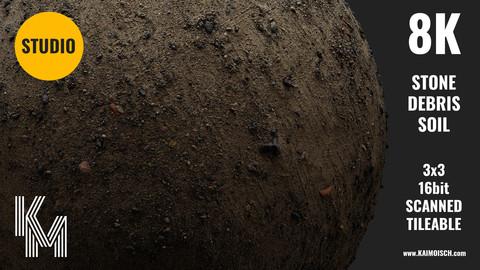 038 Stone Debris Soil | Scanned Material | Studio