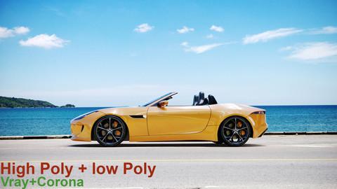Jaguar F_type (Vray+Corona)