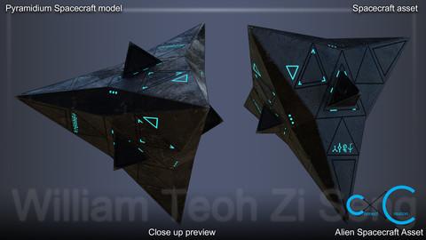 Pyramidium Spacecraft 3D Model