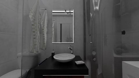Bathroom 3D model with V-Ray settings