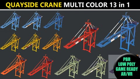 PBR Quayside Container Crane - Multi Color Pack