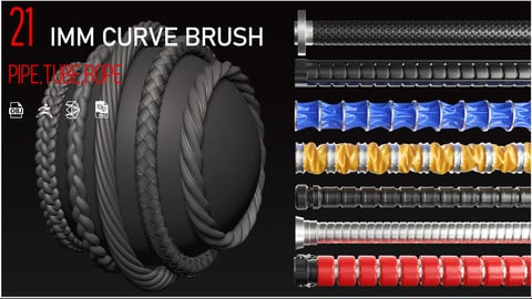 21 IMM brush (tube, pipe, rope) + mesh