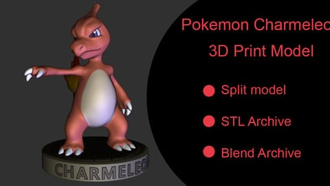 Pokemon Charmeleon - Free 3D print model