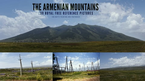 200 Royal free Armenian Mountains reference Pictures for Matte panting and Photobash