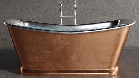 Luxury metallic bathtub (3DSMAX 2015 + VRAY + CORONA + OBJ)