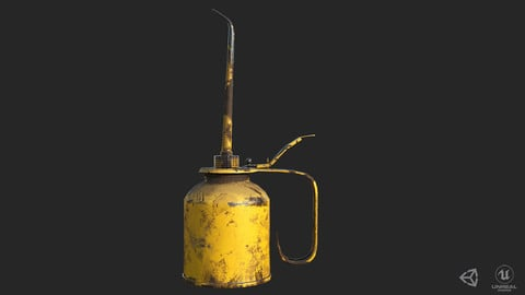 Vintage Oilcan Rusty PBR Game Ready Low-poly