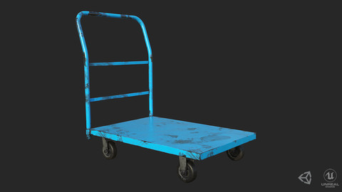 Industrial Trolley PBR Game Ready Low-poly