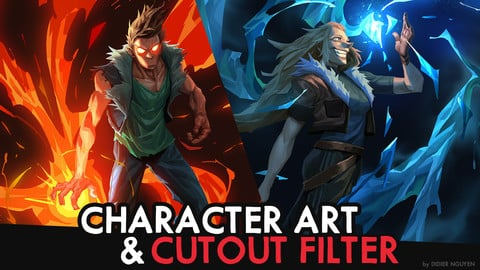 CHARACTER ART using CUTOUT FILTER  -  25min Commentary Video