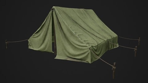 Military Camp Tent  Low-poly PBR