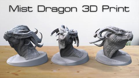 Mist Dragon 3D Print OBJ / STL