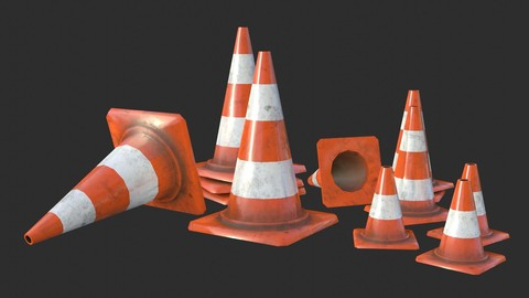 Traffic Cone Assets 01