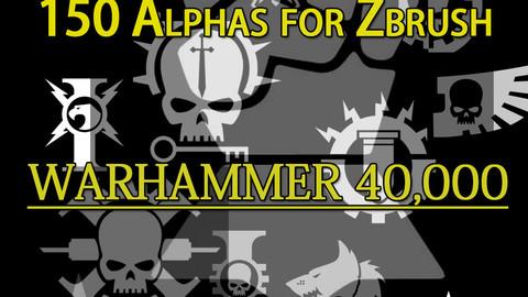 150 alphas for zbrush warhammer 40k