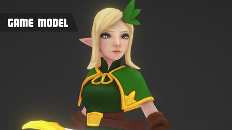 Elf Archer - Mobile Game Model