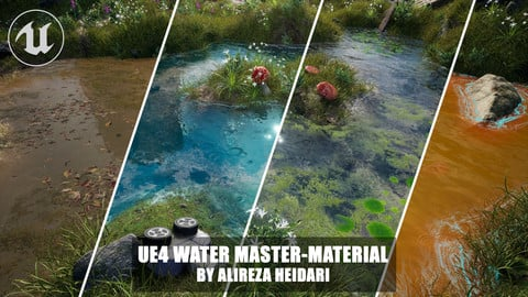 UE4 Customizable Water Master-Material (Vertex Paintable)