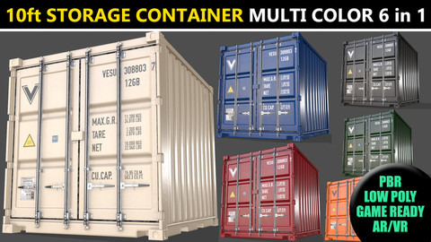 PBR 10 ft Storage Container - Multi Color Pack