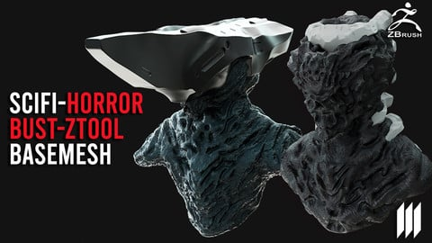2 Sci-Fi Horror Bust BaseMesh Pack With UV's Ztool