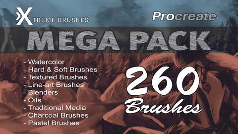 Procreate Mega Pack! 260 brushes!