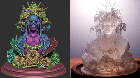 Dia De Los Muertos miniature 3D Print Ready - .ZPR, .OBJ, .STL files
