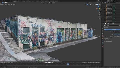 Abandoned building - Photoscanned 3D model + 8k texture