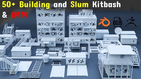 50+ Building and Slum kitbash & IMM