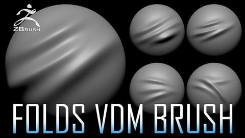 20 Folds VDM Brush for ZBrush