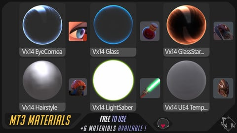MarmosetToolbag3 - Vexod14 materials setup