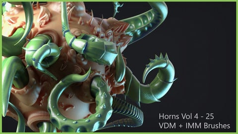 Zbrush - Horns Vol 4 - 25 VDM + IMM Brushes