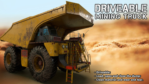 Unreal Engine Driveable Mining Truck
