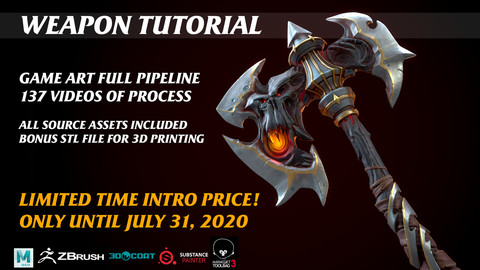 Skull Axe Game Asset Tutorial