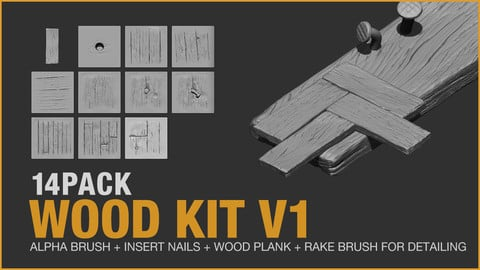 Zbrush - Wood Kit V1