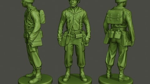 American soldier ww2 stand A8