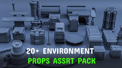 20+ Environment props asset pack