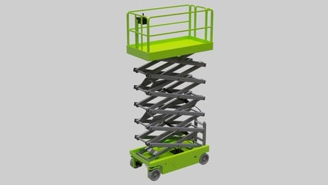 Scissor Lift 1 Untextured