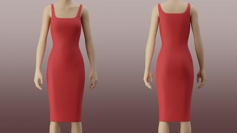 Bodycon pencil dress 3D Model